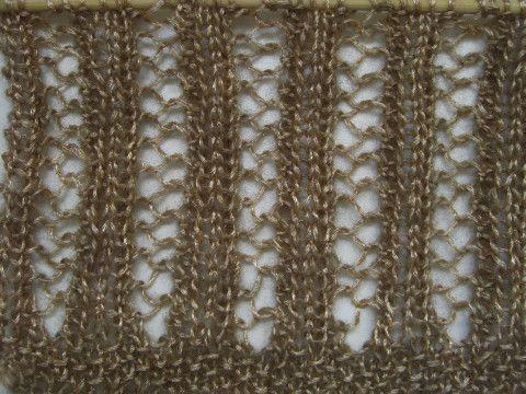 Netzmuster rechte Seite - Lochmuster, Lace Muster