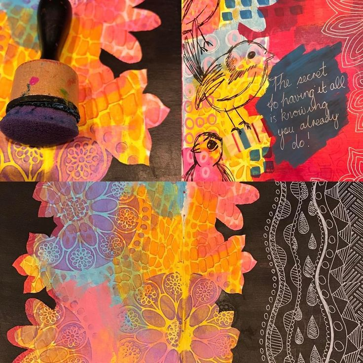 Sylvia Marris, Art journal borders