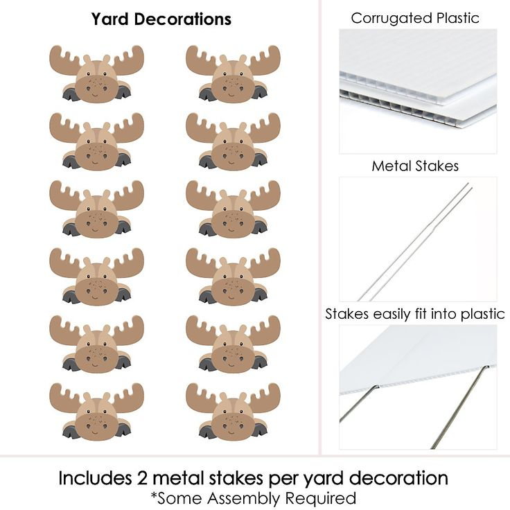 Moose Lawn Décor – Woodland Outdoor Party Decorations & You've Been Moosed Yard Prank – 12 Piece | BigDotOfHappiness.com