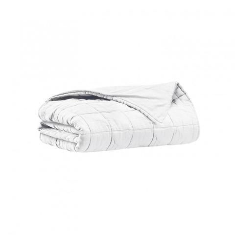 HBC - Couvre lit 2 personnes dessus de lit Dela - Blanc - 260x260 cm