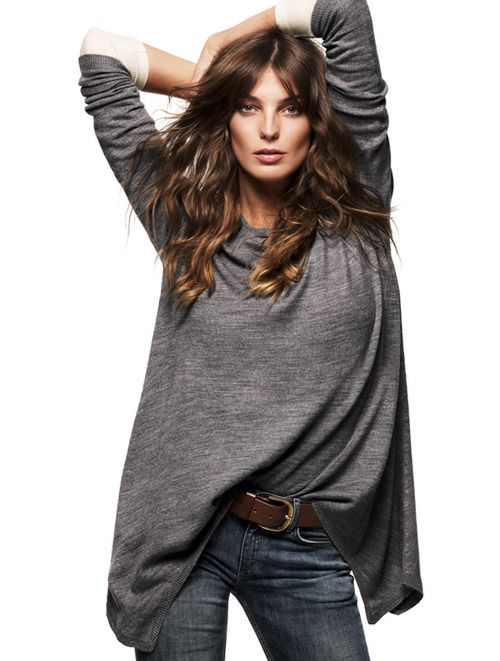 comfy: Casual Style, Casual Chic, Fall Style, Fashion Style, Knits Tops, Ties Dyes Shirts, Casual Looks, Fall 2010, Daria Werbowy