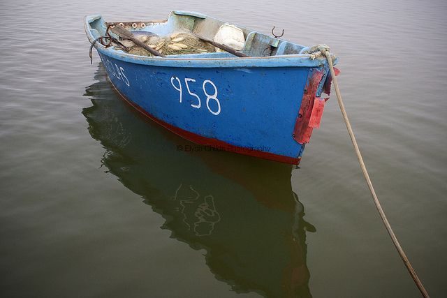 Fisherman's dinghy - Kaipara Harbour, Northland   © Elyse Childs Photography