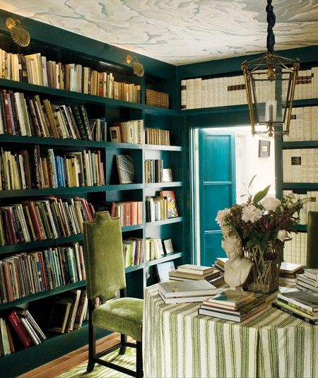 love the color for a library/guest room
