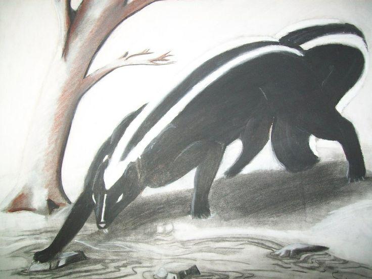 Aniwye- Native American legend: a giant skunk that killed ... Pangolin Sword