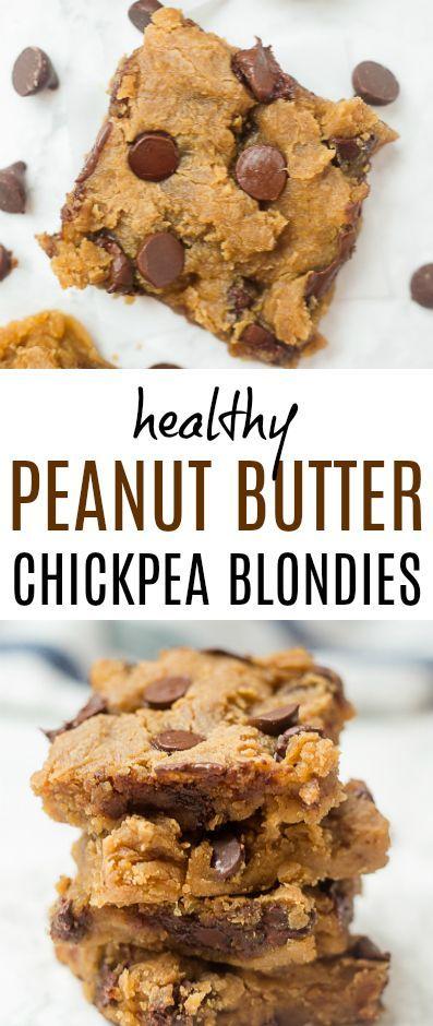 Diese Erdnussbutter-Kichererbsen-Blondinen sind eine leichte, köstliche Leckerei!