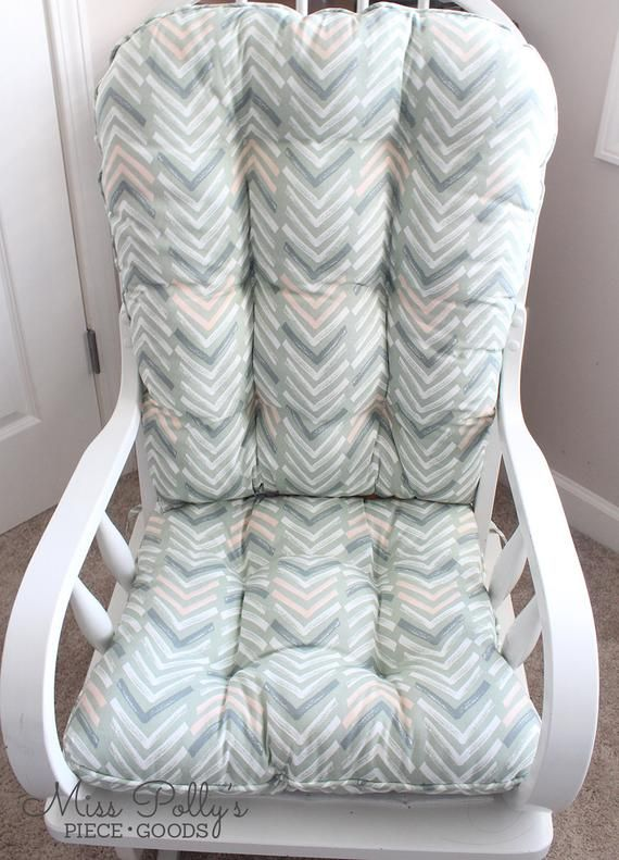 Ready To Ship Glider Replacement Cushion With Matching Ottoman Tribal Nursery Chic