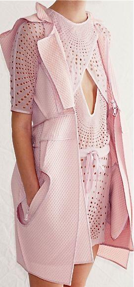 mesh structure.. Pocket - Vera Wang