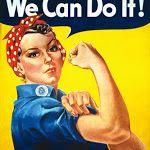 Nós podemos fazê-lo!  Rosie the Riveter - Militar Guerra Vintage Poster Impressão