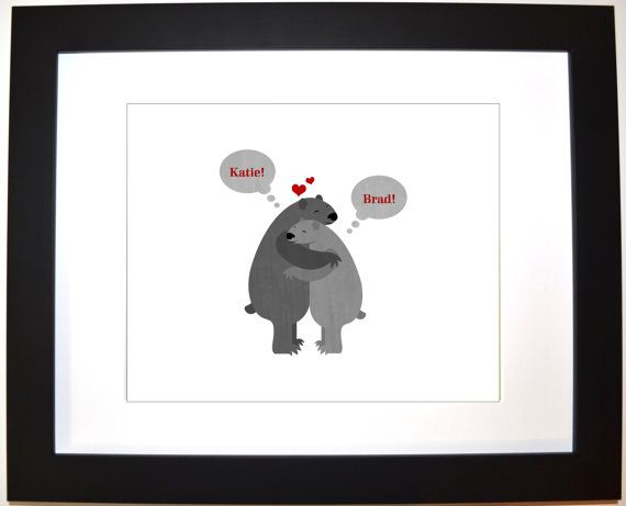 Custom valentines day present for her him by UniqueCardsandGifts