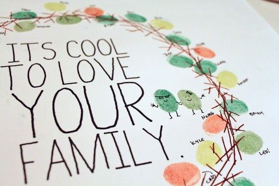 thumbprint/message wreath for your guests - fab idea for your wedding