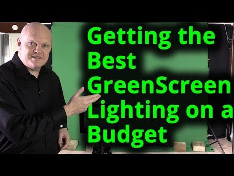 Getting the Best Green Screen Chroma key lighting setup on a budget - great tips!