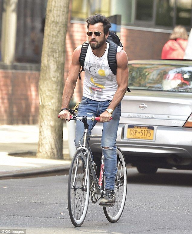 Familiar sight: The Leftovers star loves to ride his bike around the city and often carrie...
