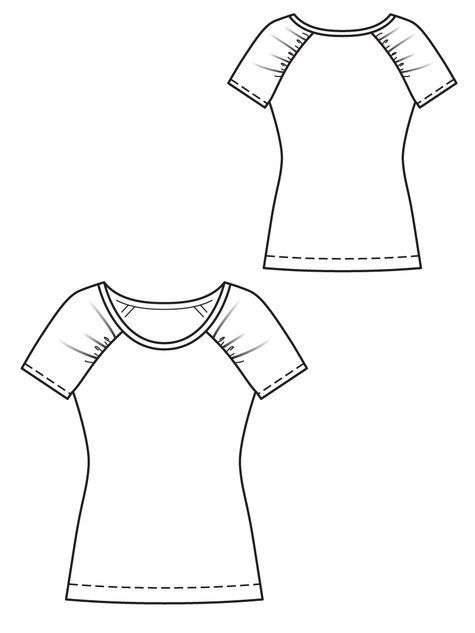 BurdaStyle Magazine 01/2013 Pattern #126 - Raglan T-Shirt with gathered sleeves