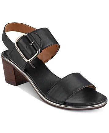 e3b1616be89a Image 1 of Tommy Hilfiger Katz Block-Heel Dress Sandals