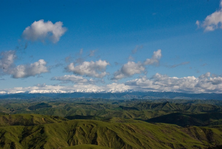 Tararuas from Pori Road, Wairarapa