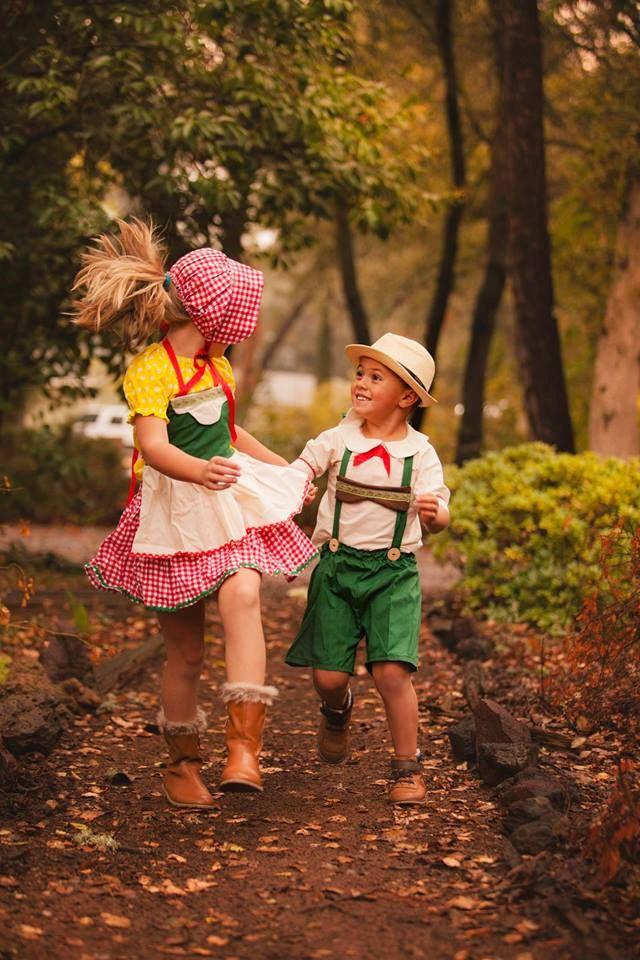 Swiss Halloween 2020 Jack and Jill Hansel or Gretel Barvarian German Swiss Alps | Etsy