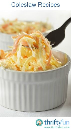 This page contains coleslaw recipes. Cabbage is a healthy base to delicious variety of assembled salads.