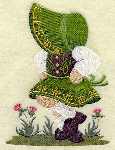 ** Irish Dancer Sunbonnet Sue Block Of The Month Pattern Used As Applique Quilt @emlibrary