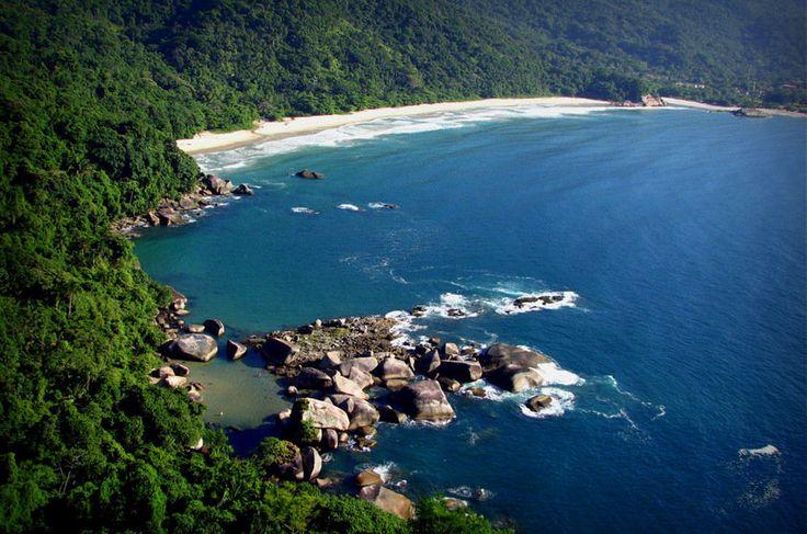 Piscina Natural e Praia do Cachadaço, no Parque Nacional Serra da Bocaina - Brasil