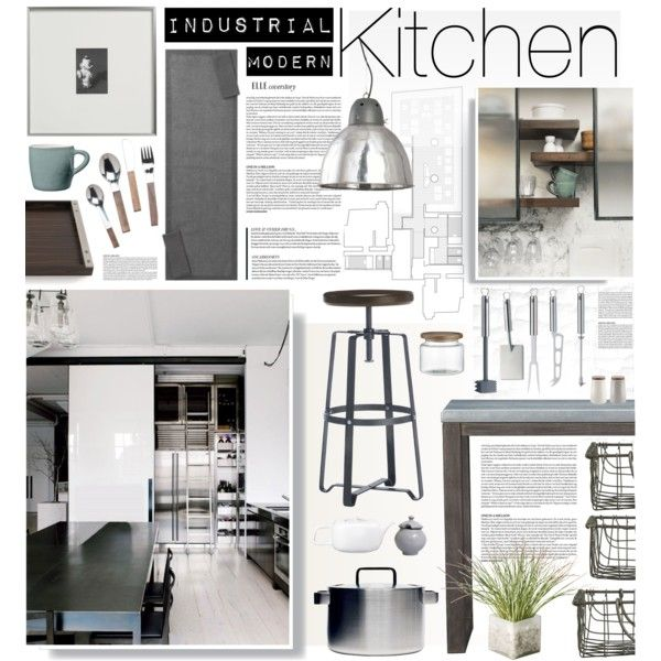 """Modern Industrial Style Kitchen: """"Industrial"""" By Bellamarie On Polyvore"""