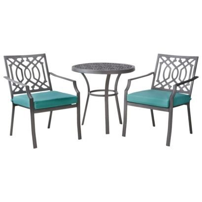 harper 3 piece outdoor metal patio or deck bistro set bright vivid multicolors