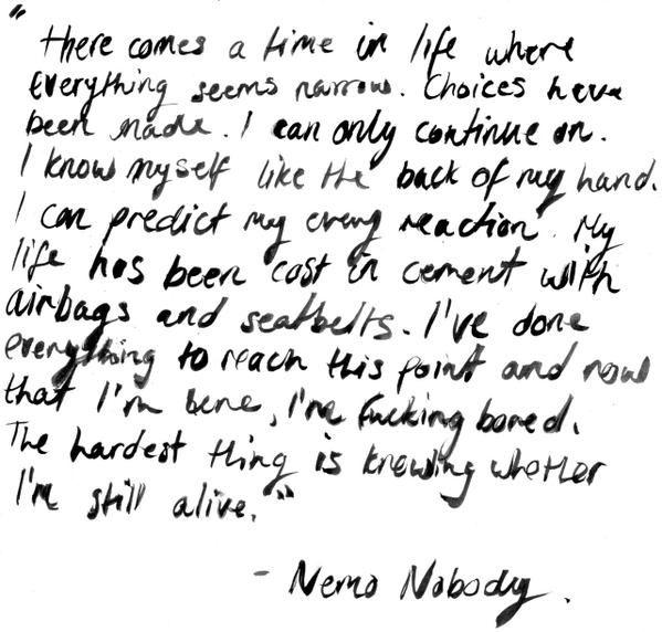 Mr Nobody | Poésie quantique                                                                                                                                                                                 Plus