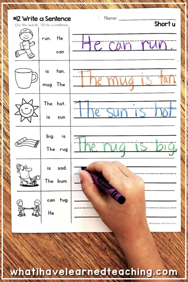 Short U Phonics Worksheets Activities Phonics Kindergarten Writing Worksheets Kindergarten Kindergarten Word Work Centers [ 1088 x 725 Pixel ]