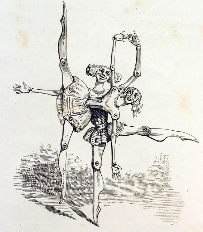 J.J. Grandville, Ballet mécanique, Un autre monde, Paris, H. Fournier, 1844, IX, p. 56. Collection Ronny Van de Velde, Anvers.
