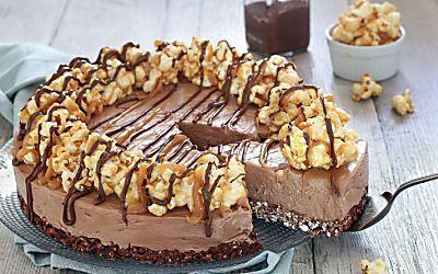Cheesecake facile e veloce senza cottura alla nutella e pop corn
