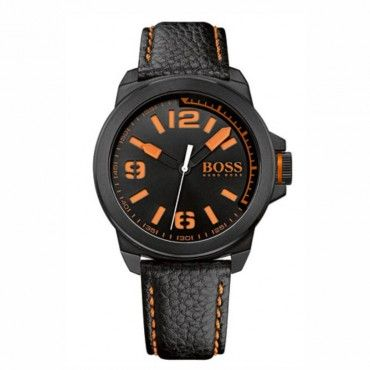 1513152 HUGO BOSS ORANGE Ανδρικό fashion ρολόι HUGO BOSS ORANGE με μαύρο καντράν & μαύρο δερμάτινο λουρί | Οικονομικά ρολόγια BOSS ΤΣΑΛΔΑΡΗΣ Χαλάνδρι #Boss #orange #λουρι #ανδρικο #ρολοι