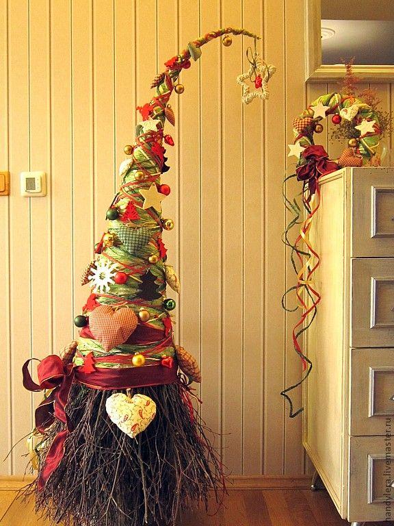 """Купить комплект из елочки и венка """"Душевный"""" - домашний уют, новогодний интерьер, ощущение праздника"""