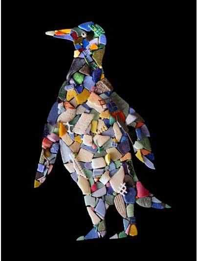Turning plastic ocean trash into art: John Morris