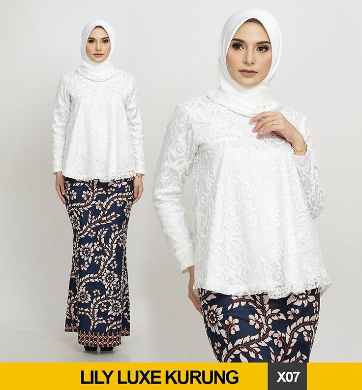 [LILY LUXE KURUNG | LACEY + BATIK] - FULL RELEASE - Kurung Top is made from exquisite lace that have a flowy Fishtail and babydoll cutting It has full lining and not sheer Wudhu and nursing friendly . The sarung made from our signature batik that is surely 100% cotton It has a mermaid cutting that can flatter any curves The material is cool and so much comfy for our humid weather Our batik does not shrink otherwise we refund your money. That's how confident are we . ❤️Pre Order S...
