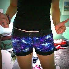 Galaxy DIY shorts :o