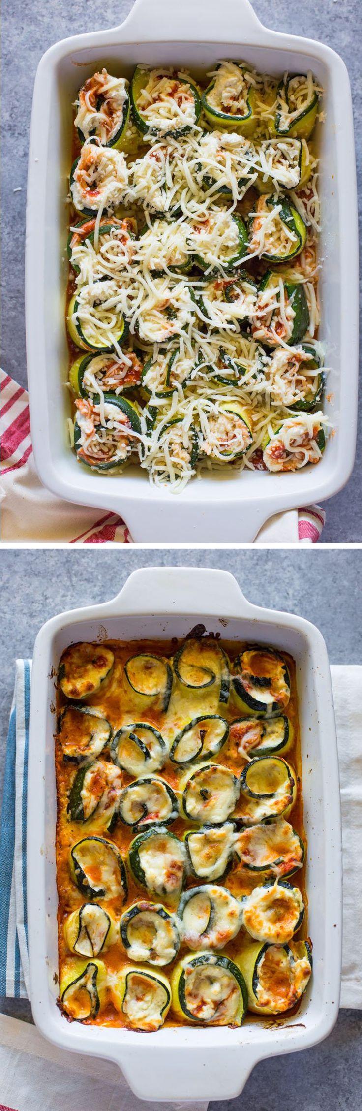 Low-Carb Zucchini Lasagna Roll-Ups