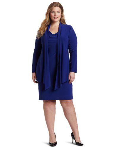 Jessica Howard Women's Plus-Size Solid Cape Jacket Dress: Jacket Dress, Plus Size Solid, Howard Women S, Dresses, Solid Cape, Jessica Howard