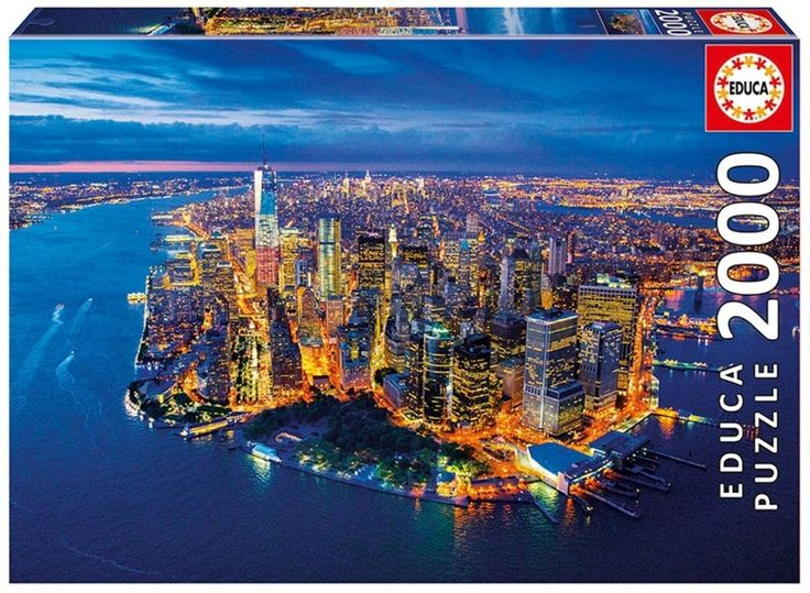 """New York Aerial View"" ~ a 2000 piece jigsaw puzzle by Educa Puzzles. Aerial Photographer: © Jason Hawkes"