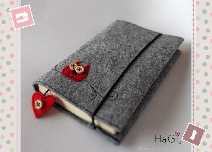 Handmade Felt Book Cover : Best images about fieltro fundas felt cover on