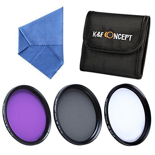K&F Concept 5 teiliges 55mm Kamera Filter Zubehör Slim Objektiv Zubehör UV CPL FLD Filter Filterset Graufilter Schutzfilter für Sony A37 A55 A57 A65 A77 A100 DSLR Kamera + Reinigungstuch für Objektive + Filtertasche - http://kameras-kaufen.de/k-f-concept/k-f-concept-5-teiliges-55mm-kamera-filter-zubehoer