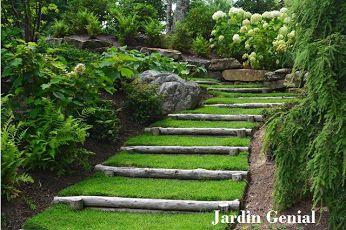 Безграничный источник  вдохновения для домашнего уюта:  сад на склоне в классическом стиле . #JardinGenial #ландшафтный_дизайн  #Озеленение #Освещение #Полив #Постройки_на_участке