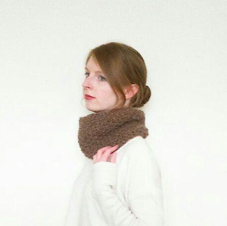 The Grove // Wool alpaca chunky knit brown by WhitebirchHandcraft