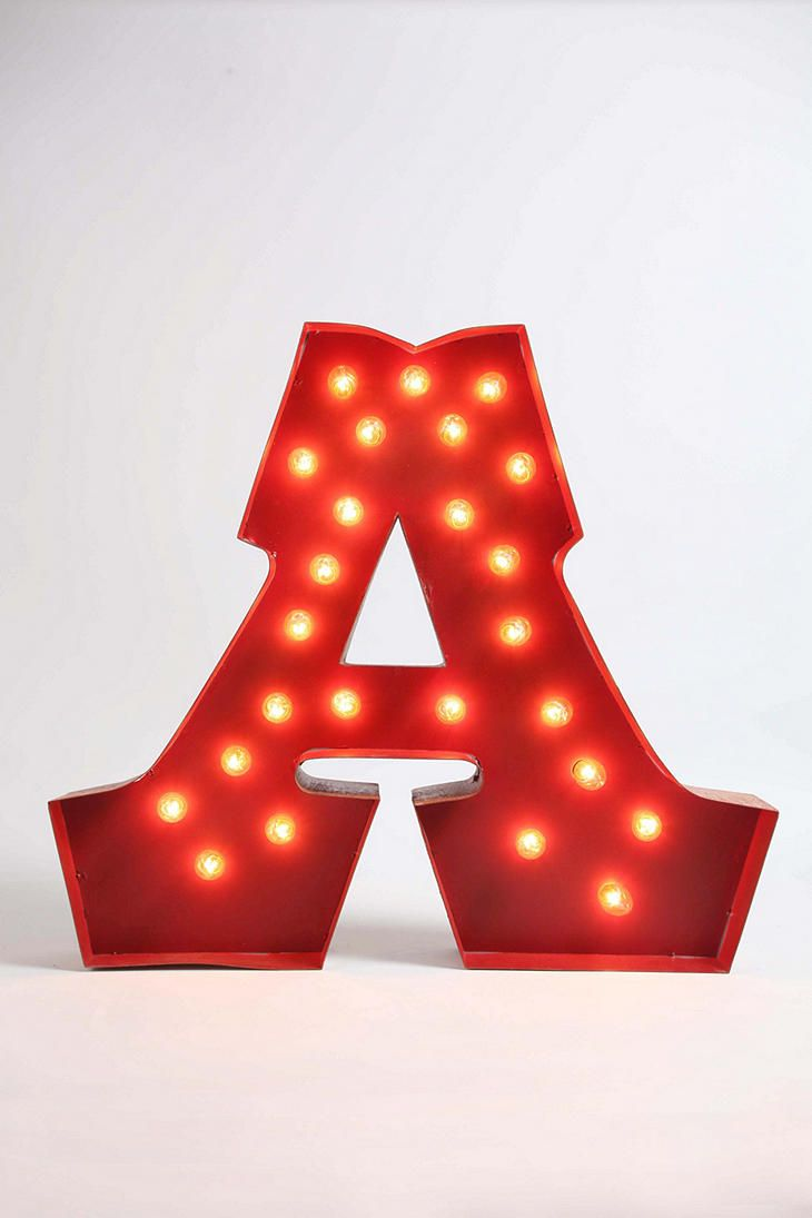 Urban Outfitters - Marquee Alphabet Light - Clear: Urbanoutfitters, Alphabet Lighting, Night Lighting, Idea, Marquee Alphabet, Urban Outfitters, Marquee Lights, Christmas Lighting, Marque Alphabet