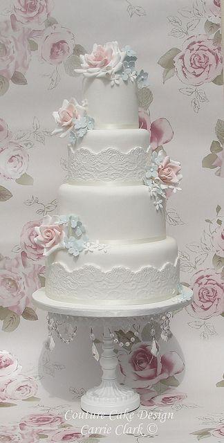 classic wedding cakes | Vintage Lace Roses Wedding cake | Flickr - Photo Sharing!
