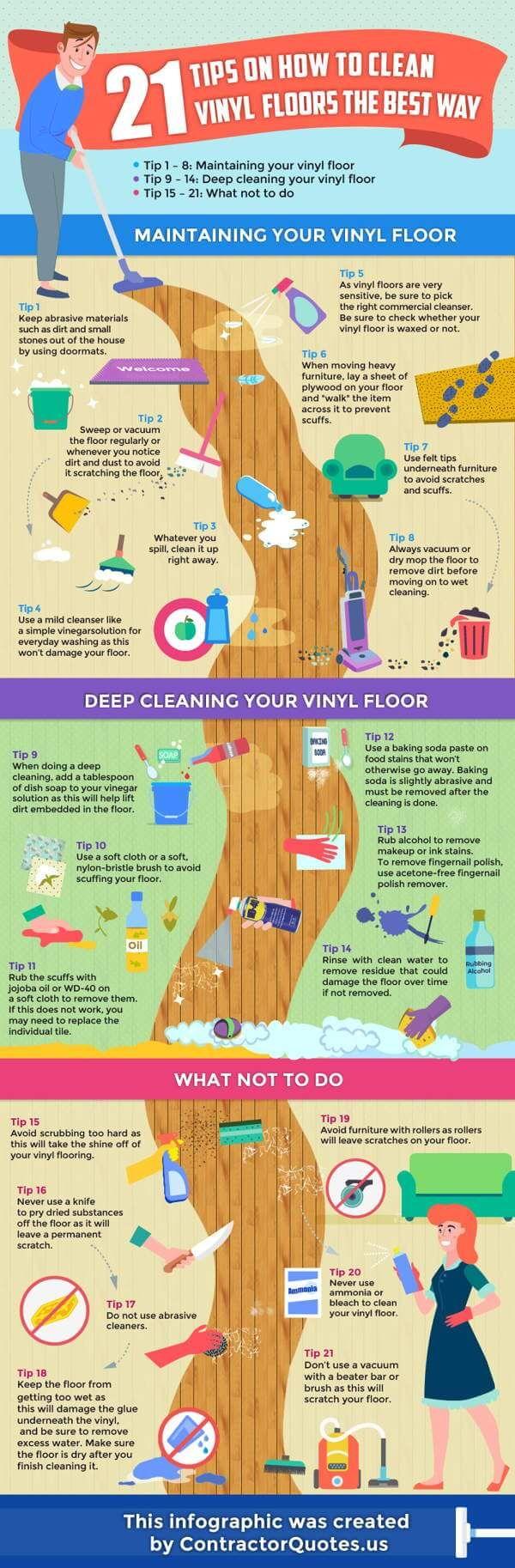 Consejos para limpiar los suelos de vinilo de su hogar _infografía