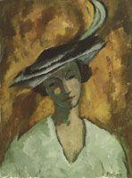Arnold Brügger - Pariserin (Frau mit Hut)