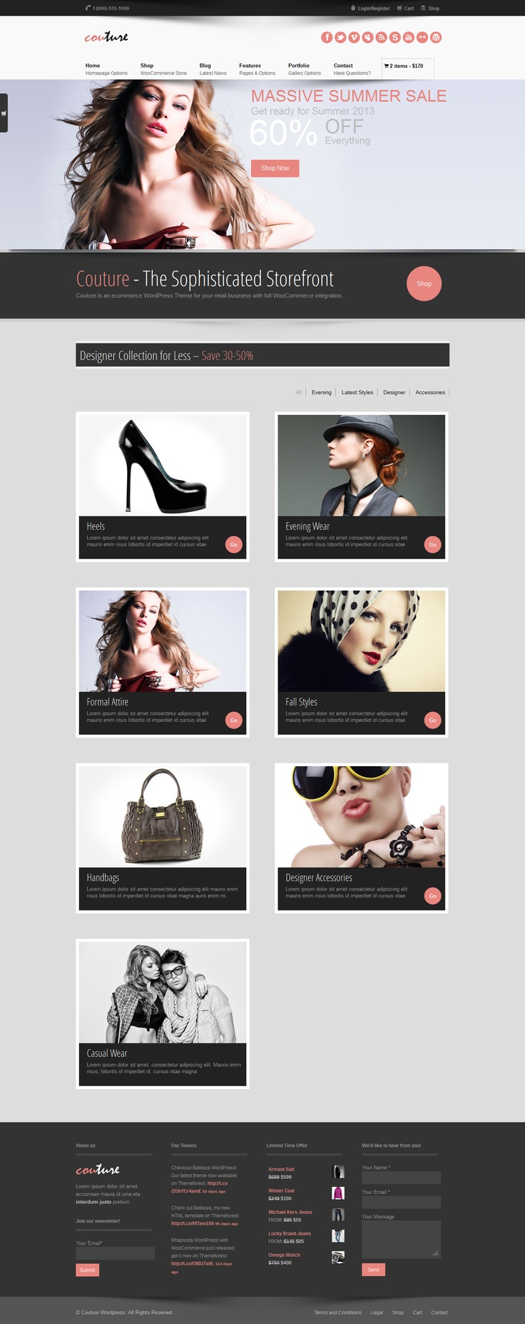 Couture WordPress WooCommerce Theme  #wordpress #theme #website #template #responsive #design #webdesign #flat #flatdesign #ecommerce #shop #woocommerce