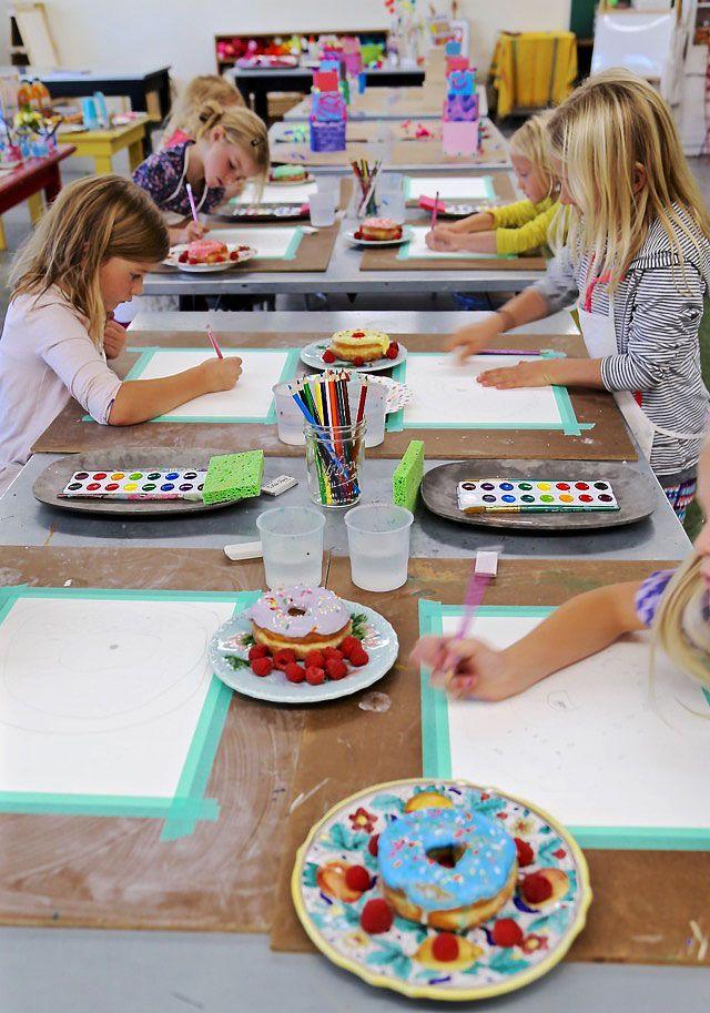 Os alunos do estúdio de arte Handmakery, em Carbondale, Colorado, pintam ainda a dor da vida …   – My Books!