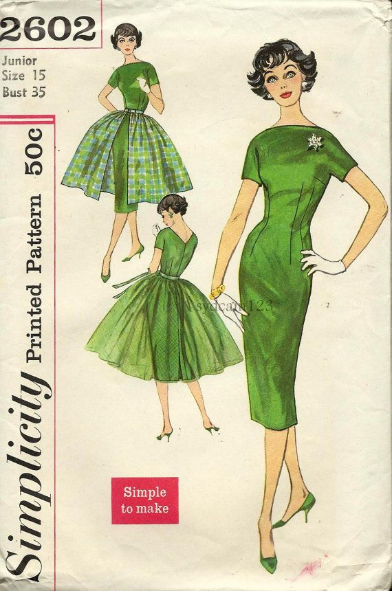 17 Best images about Vintage Patterns on Pinterest | Sheath ...