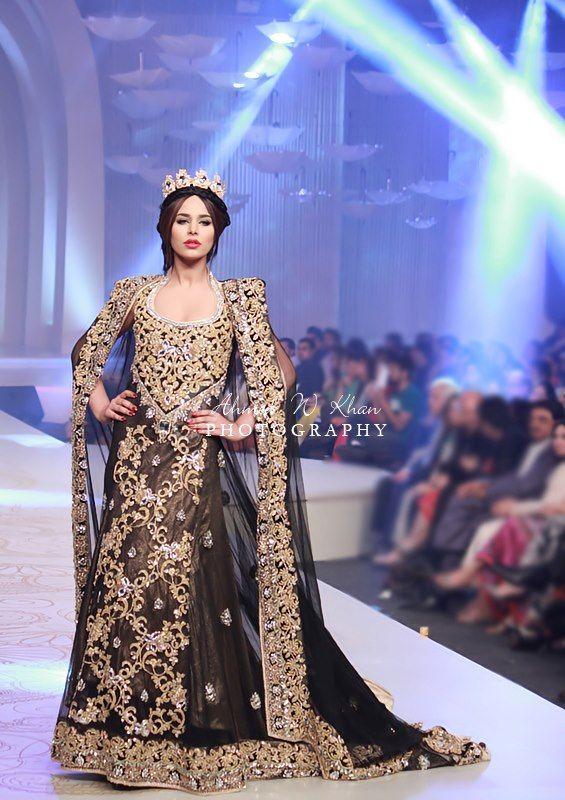 Black and gold designer dresses