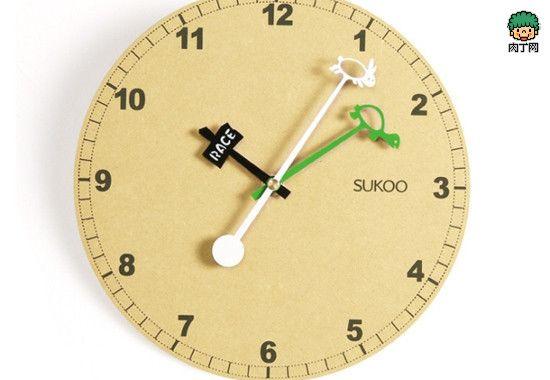 7款简单时尚的木质创意挂钟产品设计╭★肉丁网 Clocks Pinterest Clocks Wall